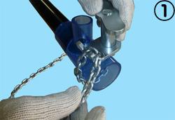 パイプ挿入工具ほそかん 取り扱い手順1